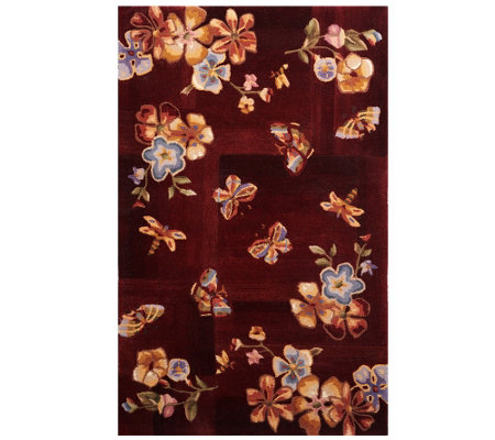 "Royal Palace Butterfly Radiance 3' x 4'9"" Wool Rug"