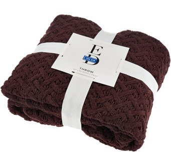 "ED On Air 50""x70"" Chunky Becket Knit Throw by Ellen DeGeneres - H206177"