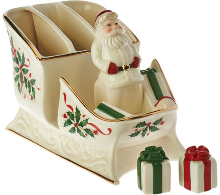 Lenox Holiday Caddy & Centerpiece with Salt & Pepper Shakers