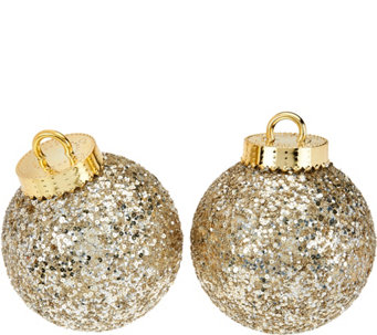 "Kringle Express S/2 Glittered & Sequined Indoor/Outdoor 8"" Ornaments - H208877"