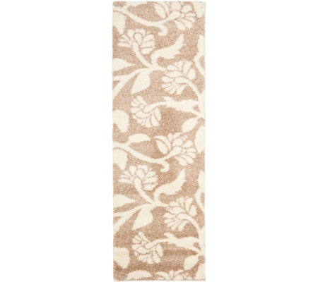 "Safavieh 2'3""x7' Runner Meadow Design Florida Shag Rug"