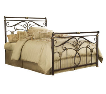 Fashion Bed Group Lucinda Marbled Russet QueenBed - H281077