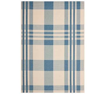 Safavieh 8' x 11' Plaid Indoor/Outdoor Rug