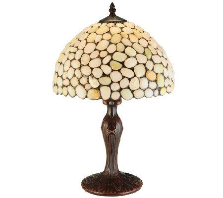 Meyda tiffany style 19quot agata opal table lamp qvccom for Tiffany floor lamp qvc