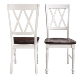 Crosley Shelby Set of 2 White Dining Chairs - H289877