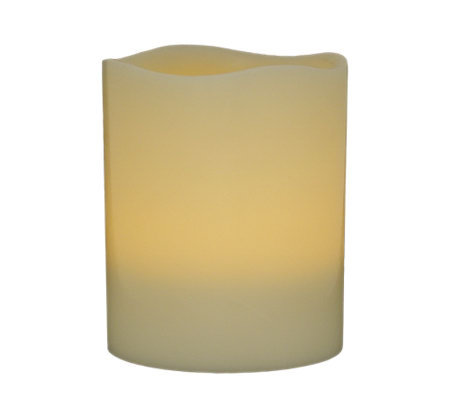 "Pacific Accents 4"" x 5"" Melted Top Flameless Candle"