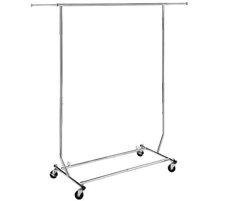 Whitmor Commercial Garment Rack Rolling