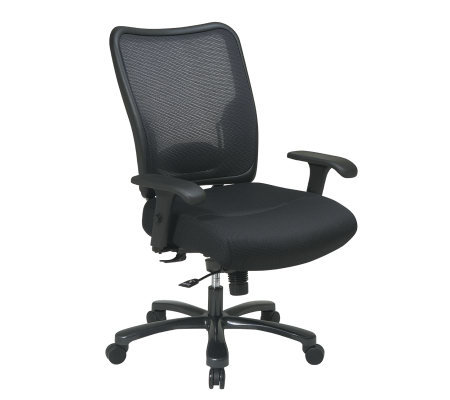 Office Star Black Grid Back Ergonomic Chair with Mesh Seat