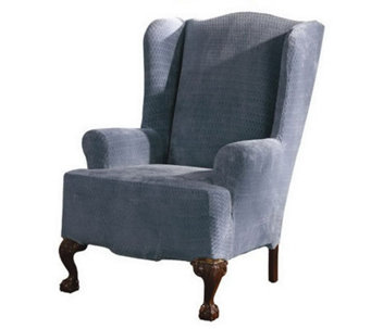 Sure Fit Stretch Royal Diamond Wing Chair Slipcover - H180578