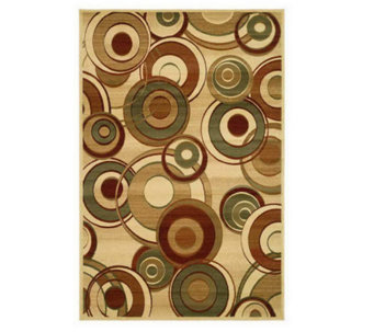 "Lyndhurst 5'3"" x 7'6"" Modern Circles Power Loomed Rug - H181178"