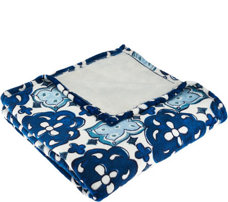 ED On Air Geo Print Velvetloft Throw by Ellen DeGeneres