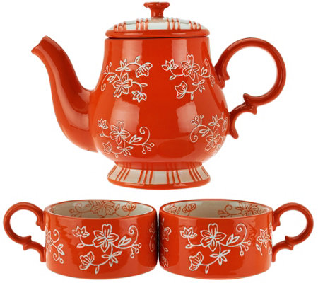 Temp-tations Floral Lace Tea for 2 Set
