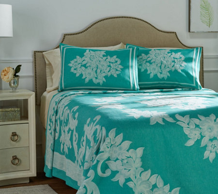 """As Is"" Alexandra 100% Cotton Jacquard Woven King Bedspread"