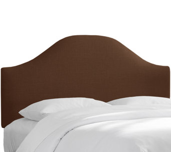 Full Curved Headboard in Linen by Valerie - H284678