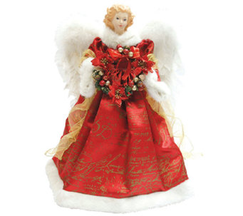 Red Scroll Angel Tree Topper by Santa's Workshop - H285178