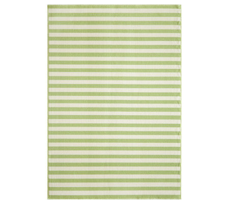 "Momeni Baja Stripes 6' 7"" x 9' 6"" Indoor/Outdoor Rug"