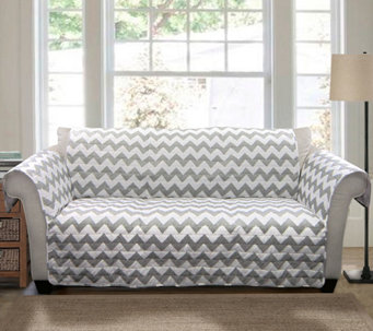 Gray Chevron Love Seat Furniture Protector by Lush Decor - H290178