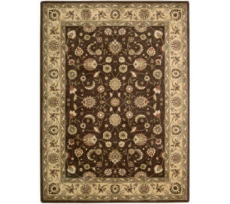 "Nourison Atlas 7'9"" x 10'10"" Persian Machine-Made Framed Rug"