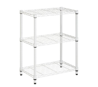 Honey-Can-Do 4-Tier White Steel Urban Adjustable Shelving Unit - H356978