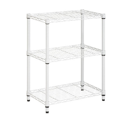 Honey-Can-Do 4-Tier White Steel Urban Adjustable Shelving Uni