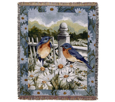 Bluebird Summer Throw