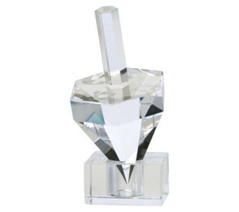 Copa Judaica Hexagon Crystal Dreidel - H144579
