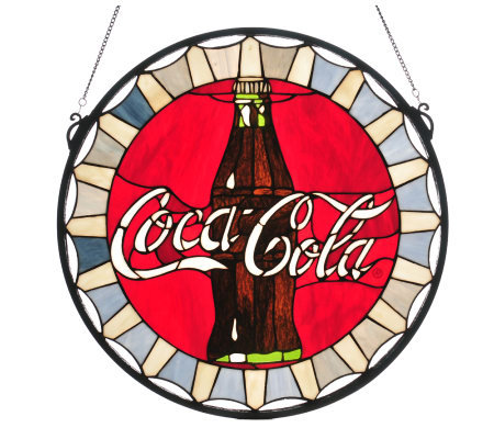 Tiffany-Style Coca-Cola Bottle Cap Stained Glass Window