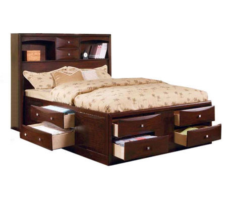 Manhatten Queen Size Bed w/ Storage by Acme Furniture