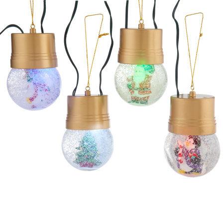 Mr christmas snowball string illuminated ornaments page 1 - String ornaments christmas ...