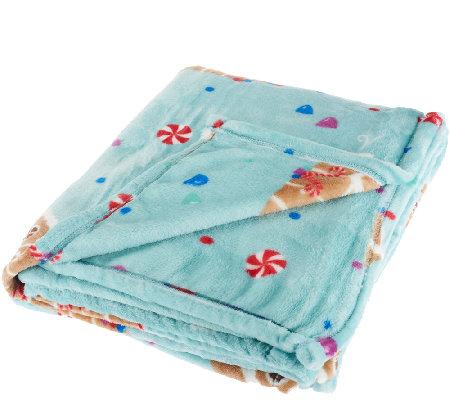 "Berkshire Blanket Velvet Soft 55"" x 70"" Holiday Throw - Page 1 ..."