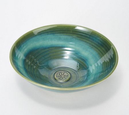 Colm De Ris Emerald Stoneware Fruit Bowl