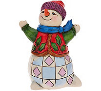 Jim Shore Heartwood Creek Mini Holiday Snowman Figurine - H209979