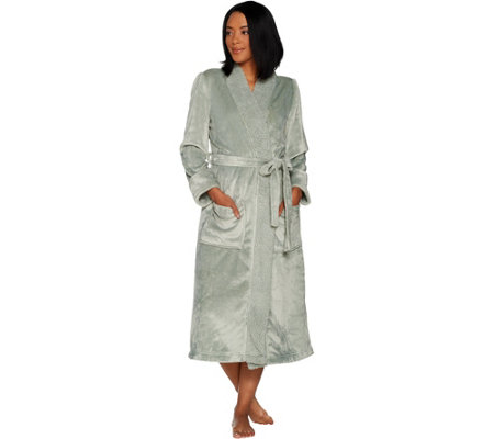 Velvet Soft Full Length Robe with Sherpa Collar by Berkshire