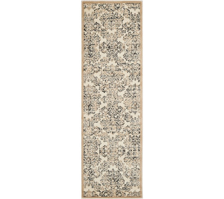 "Inspire Me! Home Decor 2'2""x7'6"" Vintage Damask Runner"