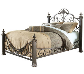 Fashion Bed Group Baroque Gilded Slate Queen Bed - H281079