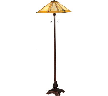 "Meyda 62"" Diamond Mission Floor Lamp"