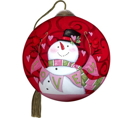 "3.00"" Love U! Snowman Ornament by Ne'Qwa"