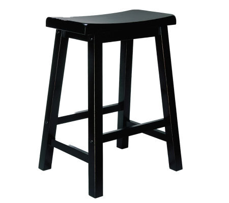 Powell Antiqued Black w/Sand-Through Terra-Cotta Counter Stool