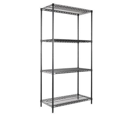 Alera 4 Shelf Wire Shelving 36x18x72 Black