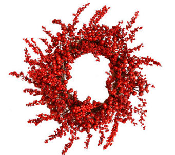 "26"" Red Berry Holiday Wreath by Valerie - H364679"
