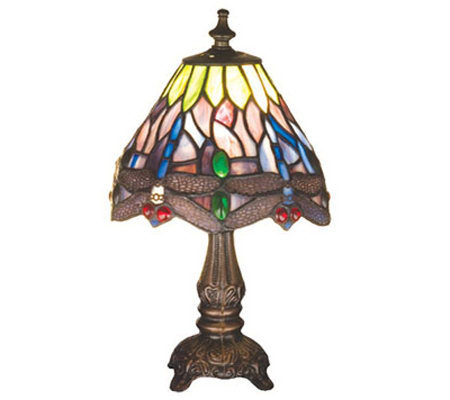 meyda tiffany style dragonfly mini lamp page 1. Black Bedroom Furniture Sets. Home Design Ideas