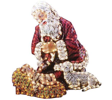 "48"" Kneeling Santa Yard Art by Roman"