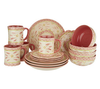 Temp-tations Hand-Painted 16-pc Service for 4 Dinnerware Set - H201980