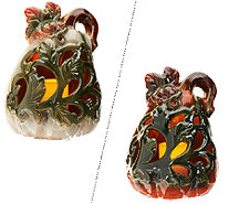 Home Reflections Glazed Ceramic Vine Luminary with Candle - H203080