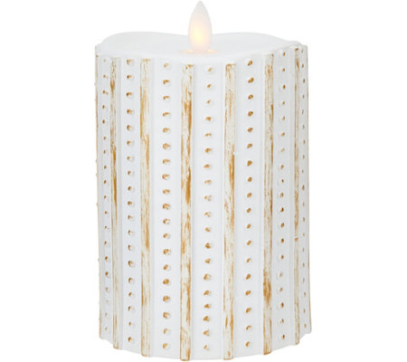 "5.5"" Patterned Mirage FlamelessCandle by Candle Impressions"