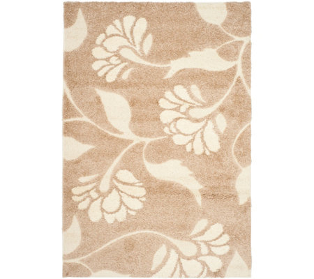 "Safavieh 5'3""x7'6"" Meadow Design Florida Shag Area Rug"