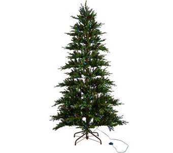 """As Is"" ED On Air Santa's Best 7.5' Rustic Spruce Tree by Ellen - H211080"