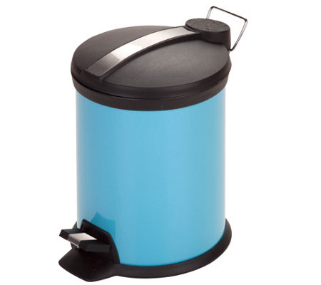 Honey-Can-Do 3-Liter Step Trash Can, Blue
