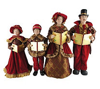 "Set of 4 20"" to 27"" Victorian Carolers by Santa's Workshop - H290080"