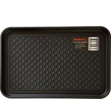Stalwart Utility Boot Tray Mat 24 X 15 Qvc Com